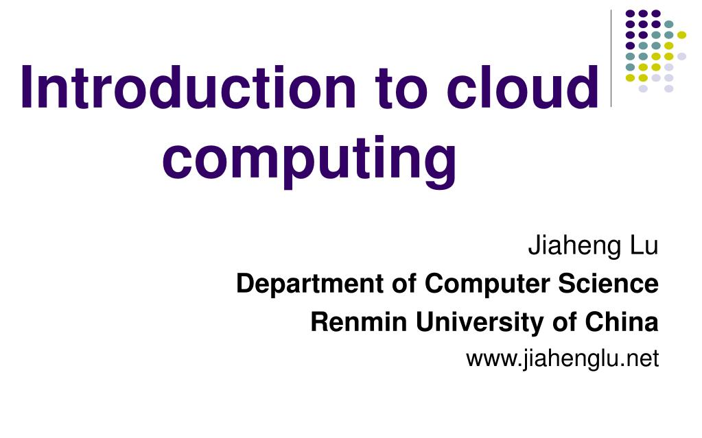 introduction to cloud computing l.
