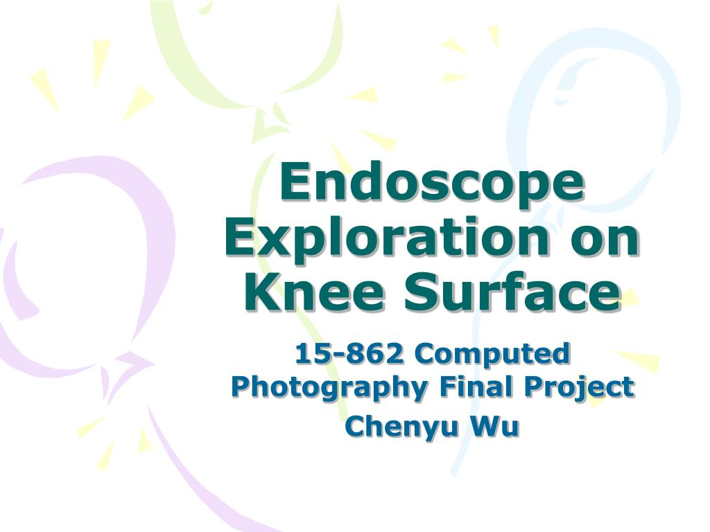 endoscope exploration on knee surface l.