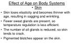 effect of age on body systems