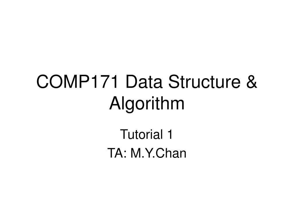 comp171 data structure algorithm l.