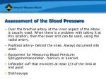 assessment of the blood pressure