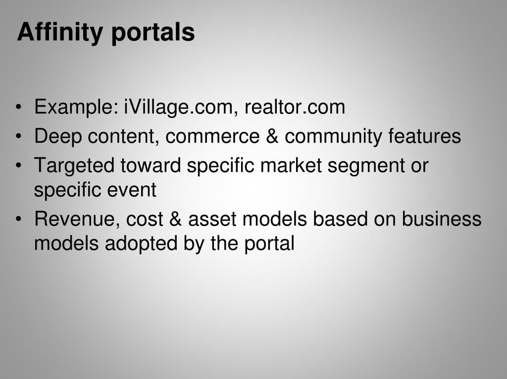 Affinity portals