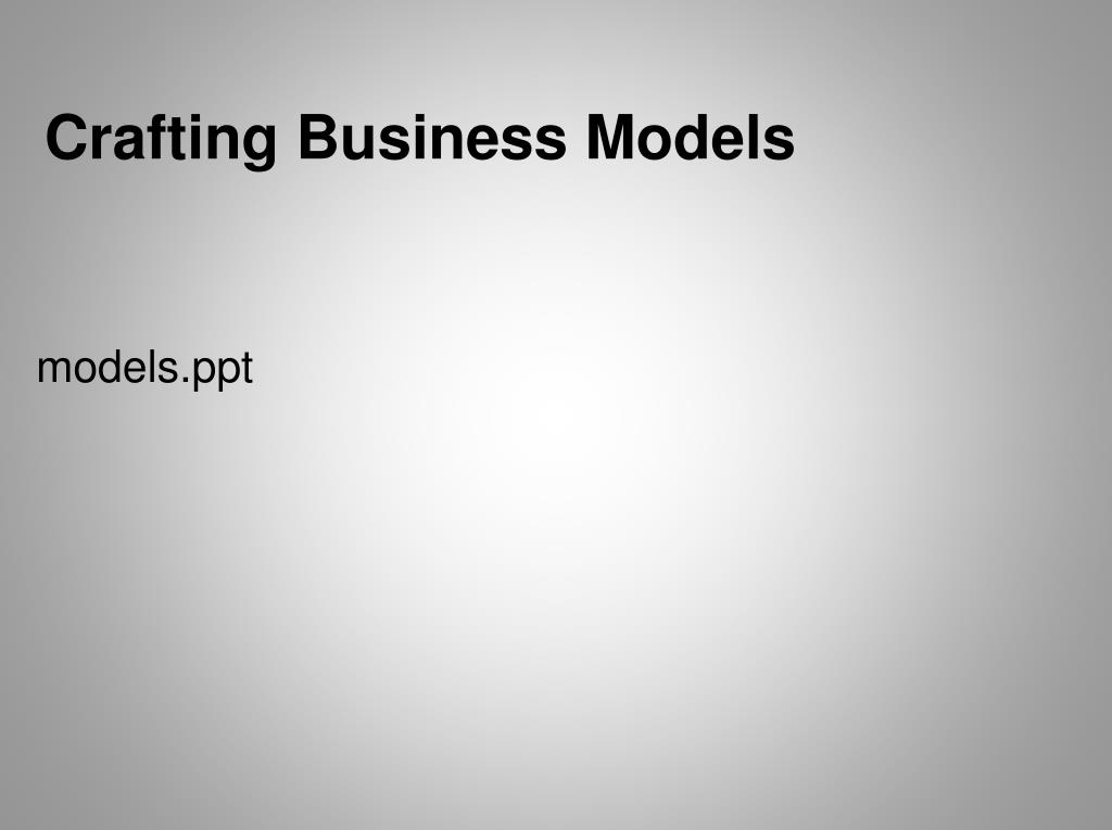 crafting business models l.