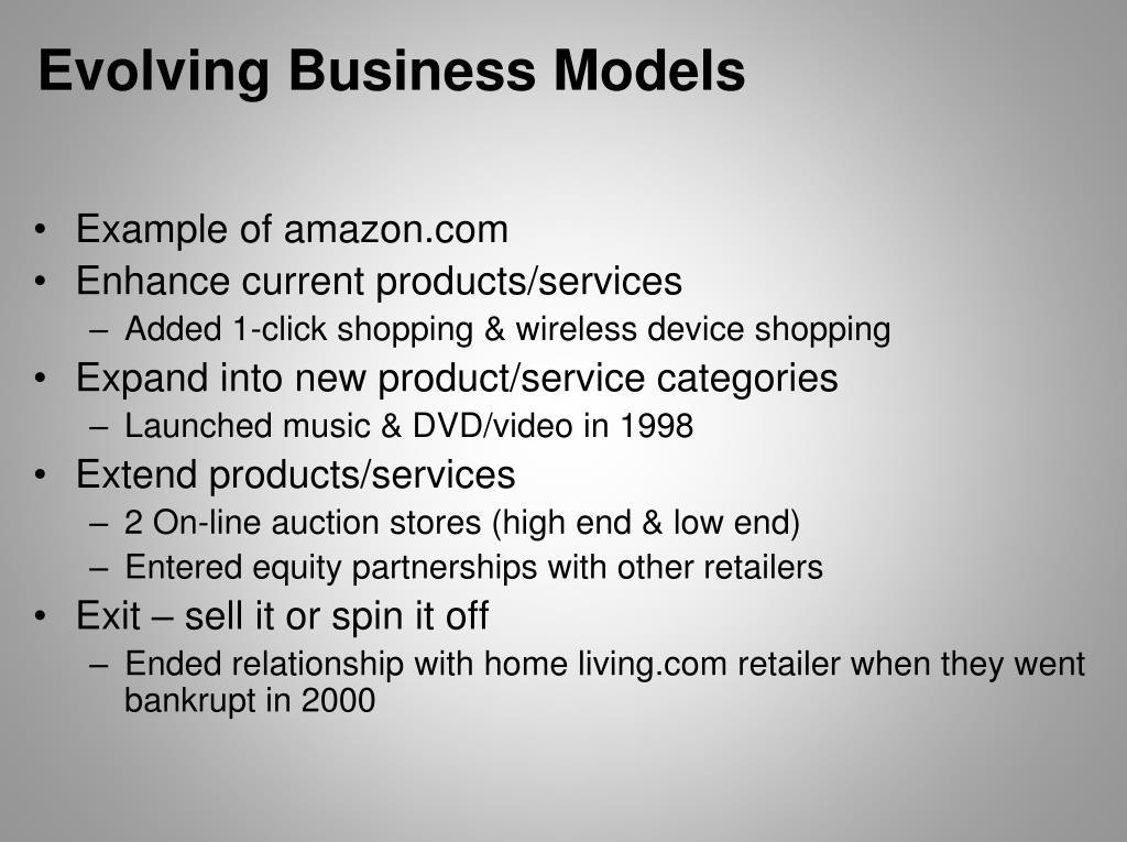 Evolving Business Models