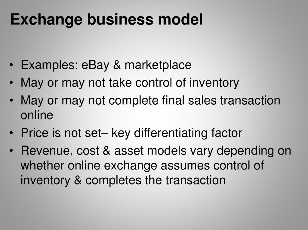 Exchange business model