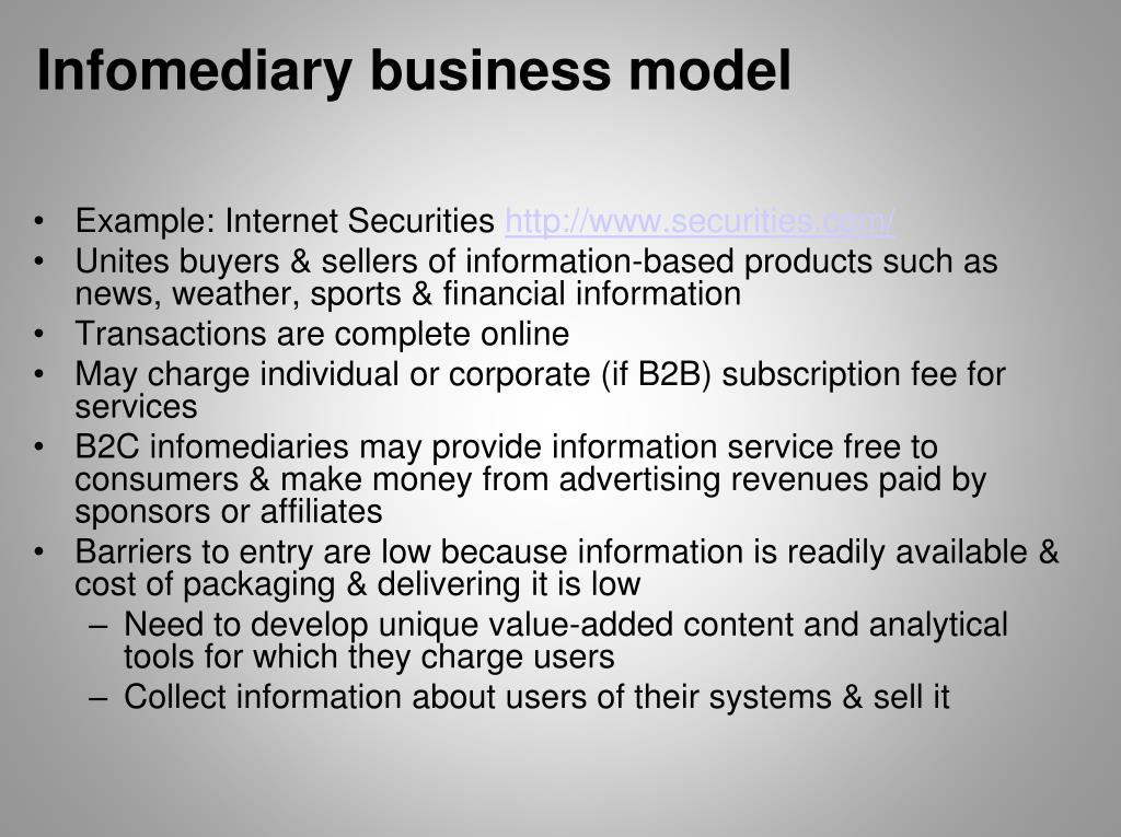 Infomediary business model
