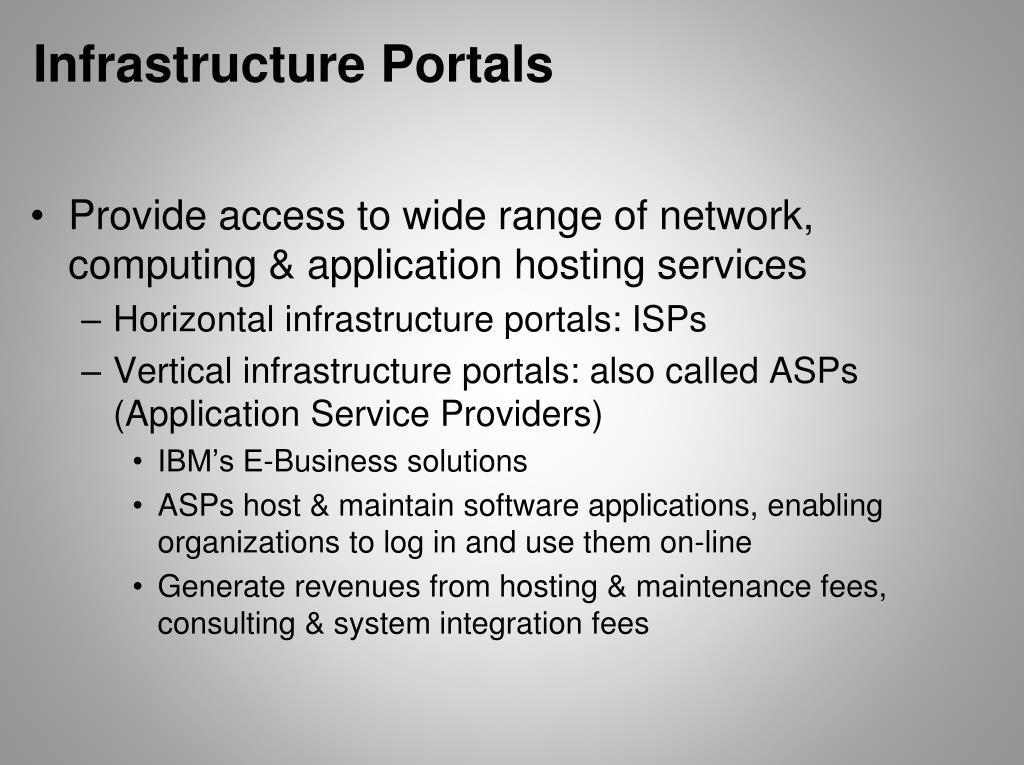Infrastructure Portals