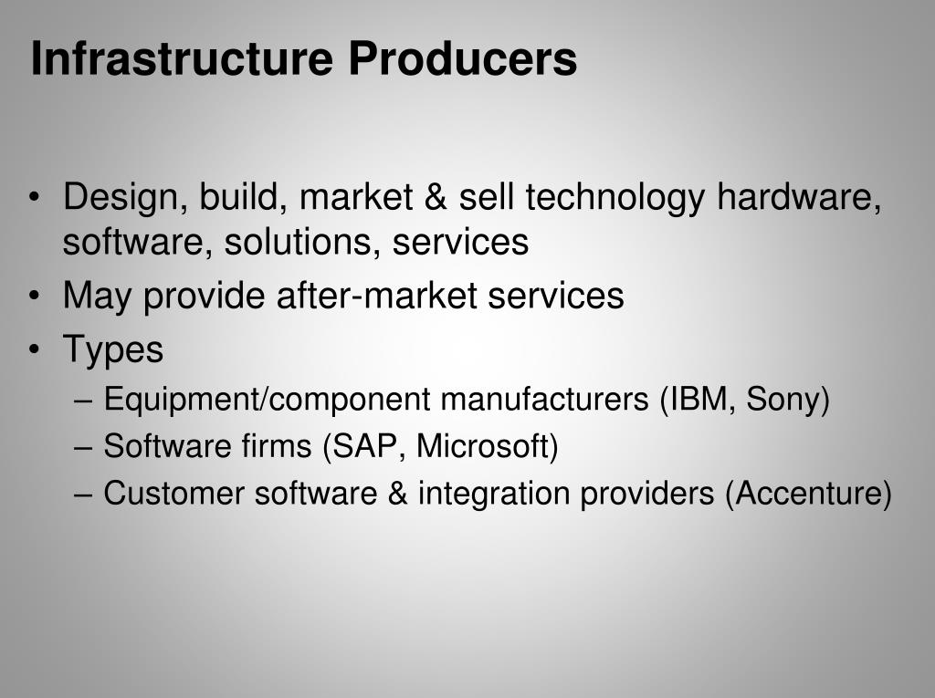 Infrastructure Producers