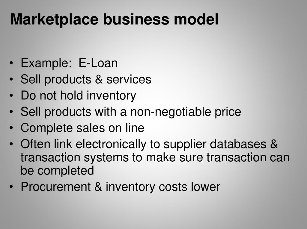 Marketplace business model