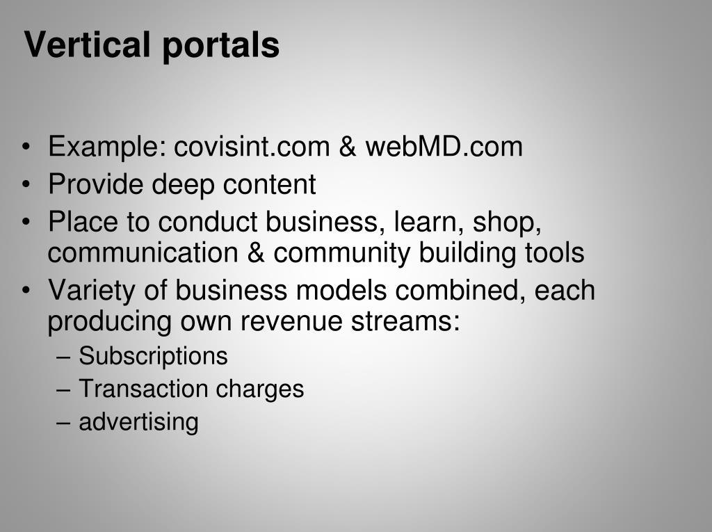 Vertical portals