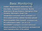 basic monitoring