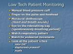 low tech patient monitoring