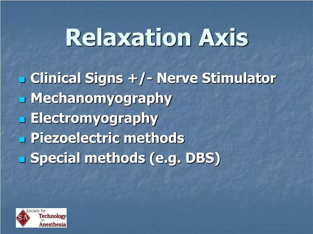 Relaxation Axis