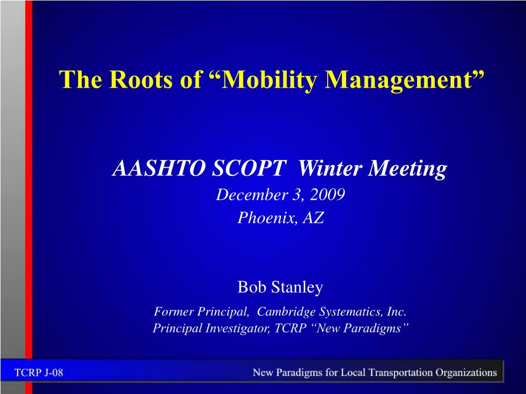 the roots of mobility management l.
