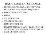 basic concepts models