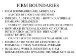 firm boundaries