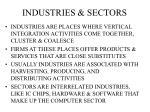 industries sectors