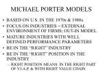 michael porter models