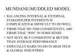 mundane muddled model
