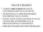 value chains i