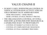 value chains ii