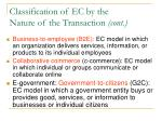classification of ec by the nature of the transaction cont26