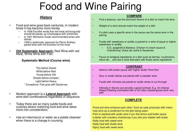 Food and wine pairing2