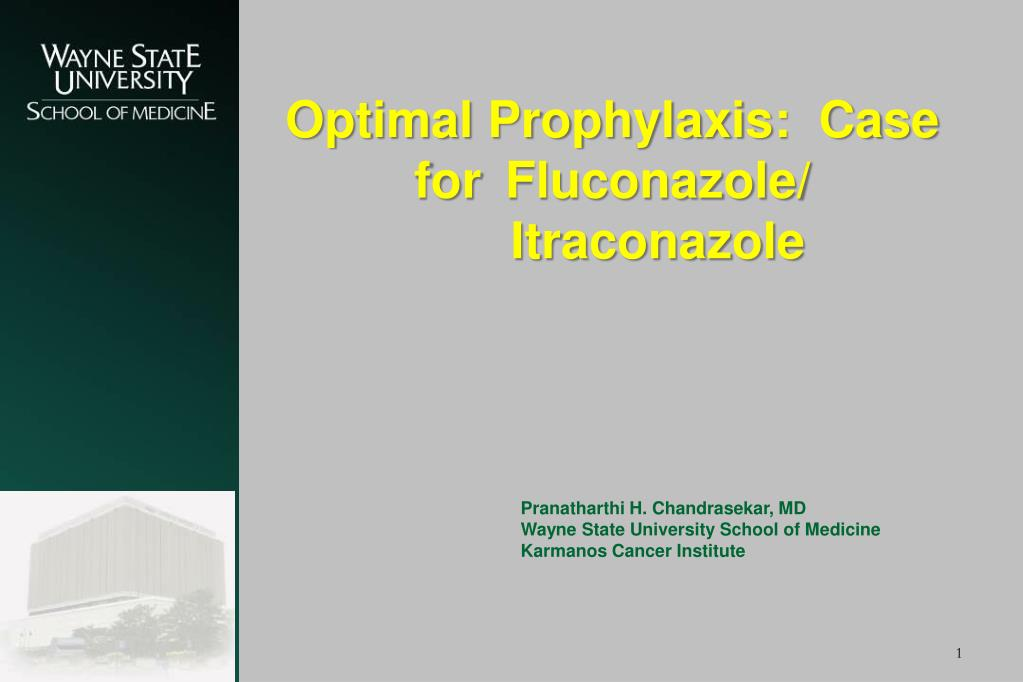 optimal prophylaxis case for fluconazole itraconazole l.
