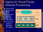 agents for virtual private network provisioning