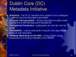 dublin core dc metadata initiative