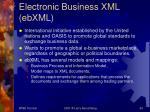 electronic business xml ebxml