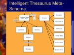 intelligent thesaurus meta schema