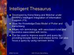 intelligent thesaurus