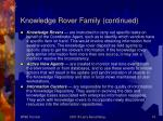 knowledge rover family continued14