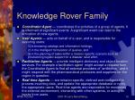 knowledge rover family