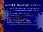 metadata standards initiatives