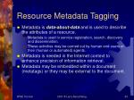 resource metadata tagging