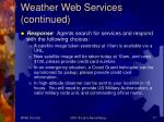 weather web services continued