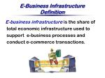 e business infrastructure definition