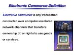 electronic commerce definition