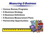 measuring e business