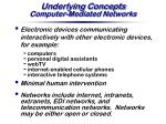underlying concepts computer mediated networks