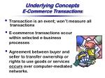 underlying concepts e commerce transactions