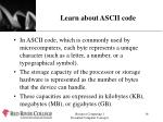 learn about ascii code