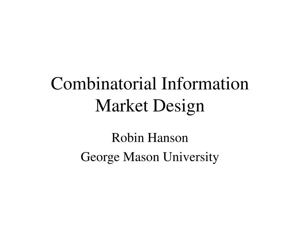 combinatorial information market design l.
