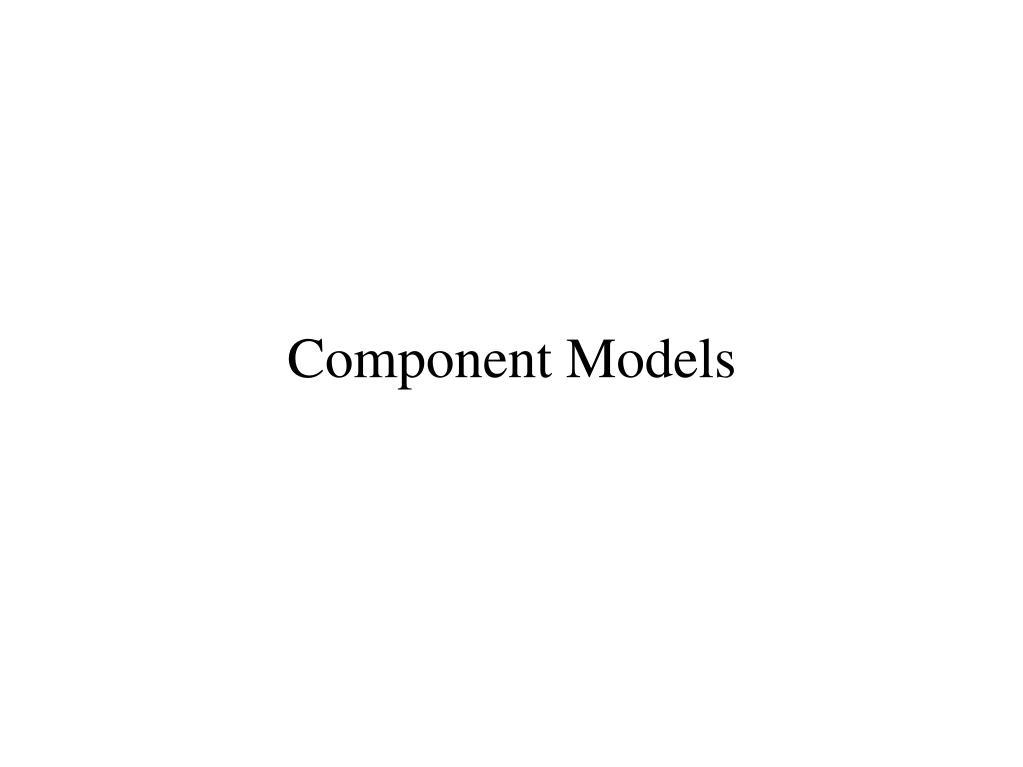 component models l.