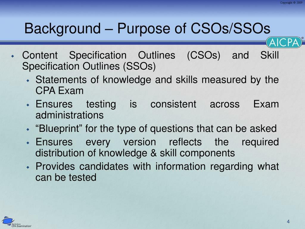 Background – Purpose of CSOs/SSOs