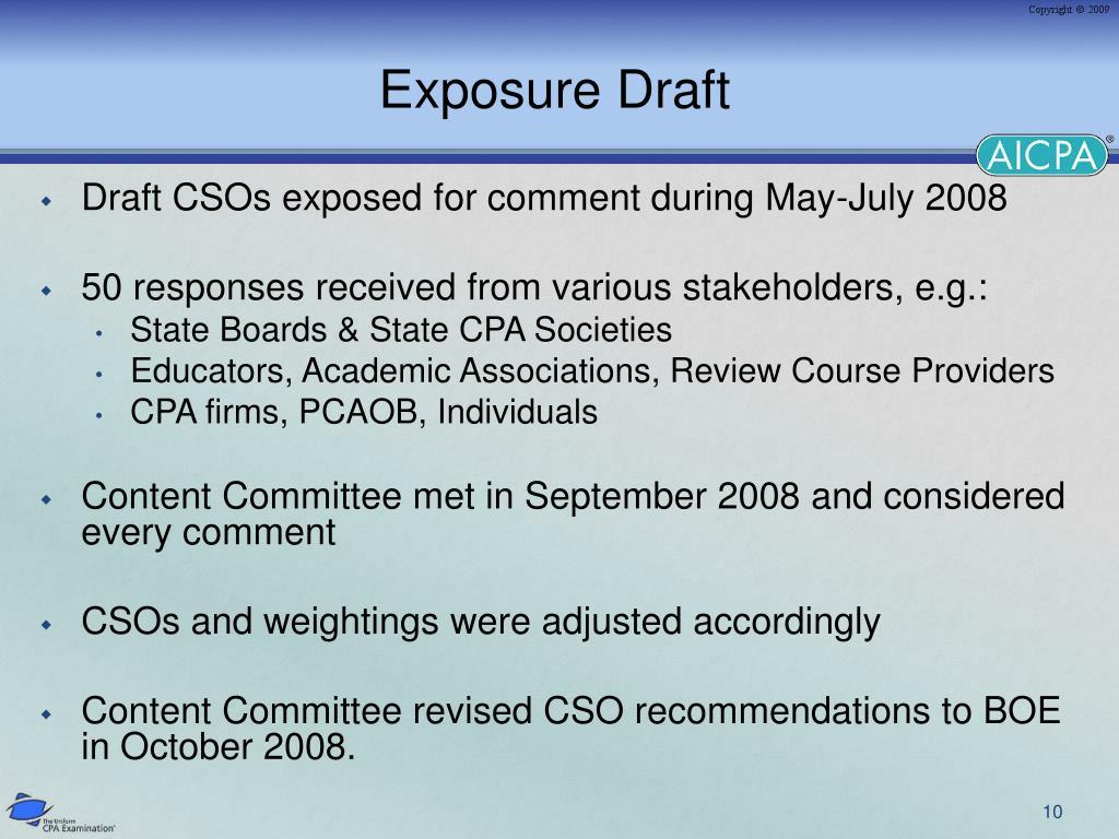 Exposure Draft