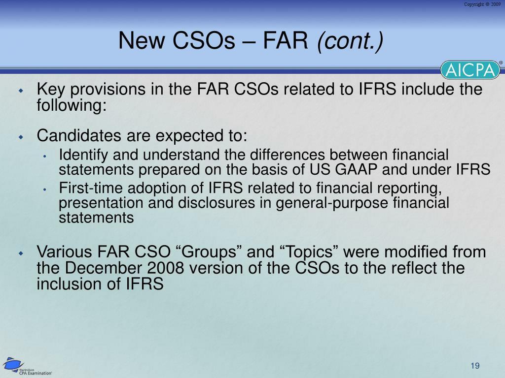 New CSOs – FAR