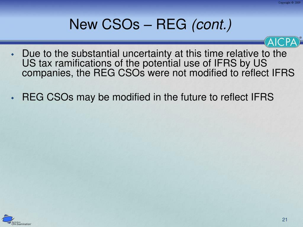 New CSOs – REG